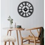 Metal Wall Clock fekete fém fali dekor óra