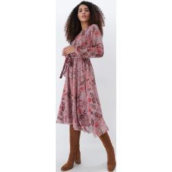 Mohito - Virágos midi ruha - Rózsaszín