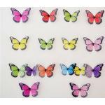 Öntapadó 3D pillangók, színes, 19 db