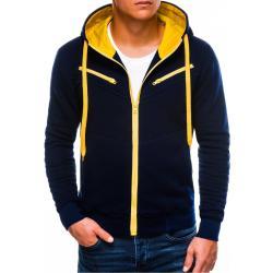 Ombre Clothing Férfi cipzáras pulóver kapucnival A