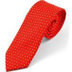 Piros-apró fehér pöttyös pamut nyakkendõ