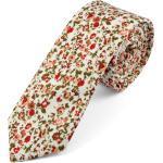 Piros virágmintás pamut nyakkendõ