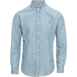 Polo Ralph Lauren Ing 'Sl Bd Ppc Sp-Long Sleeve-Sport Shirt' Kék Farmer