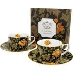 Porceláncsésze+alj 2 személyes,240ml,dobozban,William Morris: Chrysanthemum