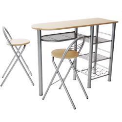 Reggelizõ Szett Asztal+2szék, Bükk Mdf/ezüst