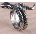 Retró kígyós állítható méretű gyűrű II.