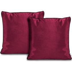 Rimavelvet pink díszpárna huzat - 45 45 cm - 2 darab / csomag - extra minõségű bársony