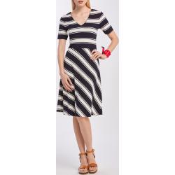 Ruha Gant D2. Striped V-Neck Dress