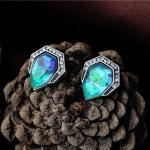 Saroya Opal köves fülbevaló, ezüst