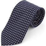 Széles, tengerészkék-fehér pöttyös nyakkendõ