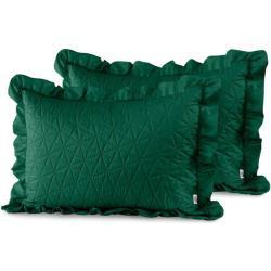 Tilia díszpárna huzat - 50 70 cm - 2 darab / csomag - Sötétzöld