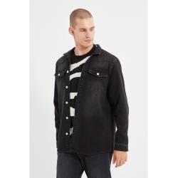 Férfi Fekete Trendyol Farmer ingek