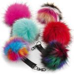 Uniszex téli sapka Beechfield Fur Pop Pom Key Ring Egy méret, Luna