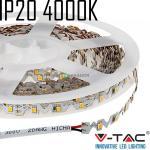 V-TAC hajlítható beltéri SMD LED szalag, 3528, természetes fehér, 60 LED/m - 2560