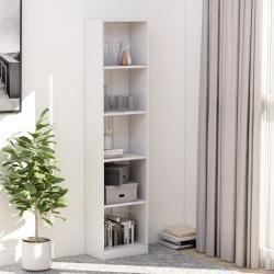 vidaXL 5-szintes magasfényű fehér forgácslap könyvszekrény 40x24x175cm