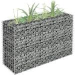 vidaXL horganyzott acél gabion magaságyás 90 x 30 x 60 cm