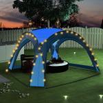 vidaXL kék rendezvénysátor LED-del és 4 oldalfallal 3,6 x 3,6 x 2,3 m