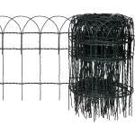 vidaXL kerti porszórt bevonatú vas szegélyezõ kerítés 10 x 0,4 m