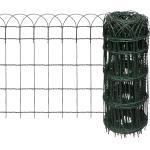 vidaXL kerti porszórt bevonatú vas szegélyezõ kerítés 10 x 0,65 m