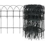 vidaXL kerti porszórt bevonatú vas szegélyezõ kerítés 25 x 0,4 m