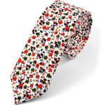 Virágmintás fehér pamut nyakkendõ