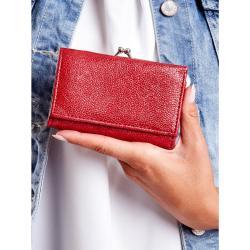 Vörös bõr pénztárca fülbevalóval