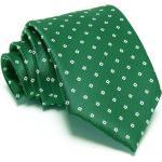 Zöld nyakkendõ - fehér mintás